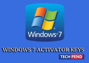 WINDOWS 7 ACTIVATOR KEYS